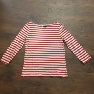 J Crew Striped Boatneck Shirt